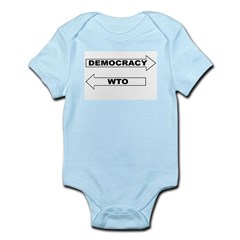 Democracy vs WTO Infant Bodysuit