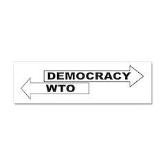 Democracy vs WTO Car Magnet 10 x 3