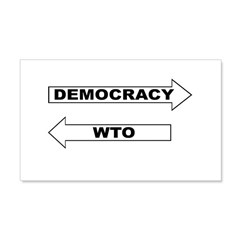 Democracy vs WTO 22x14 Wall Peel