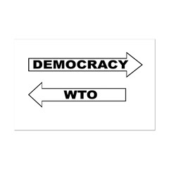 Democracy vs WTO Posters