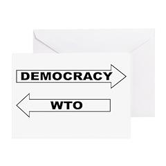 Democracy vs WTO Greeting Card