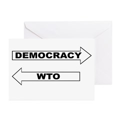 Democracy vs WTO Greeting Cards (Pk of 20)