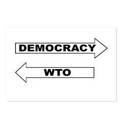 Democracy vs WTO Postcards (Package of 8)