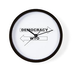 Democracy vs WTO Wall Clock