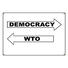 Democracy vs WTO Banner