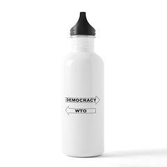 Democracy vs WTO Water Bottle