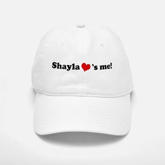 Shayla loves me Baseball Baseball Cap