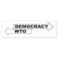Democracy vs WTO Sticker (Bumper 10 pk)