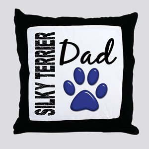 Silky Terrier Dad 2 Throw Pillow