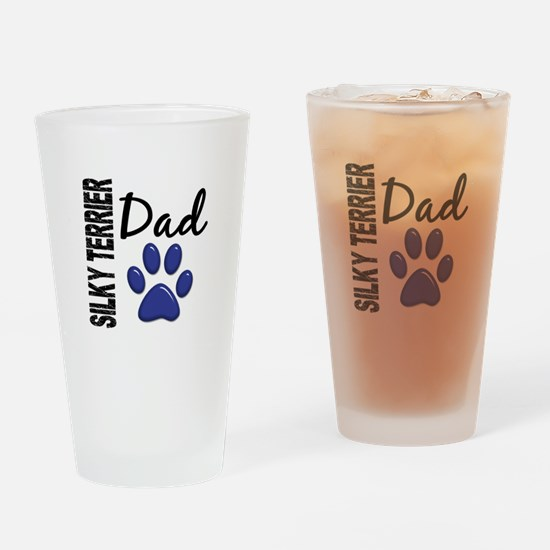 Silky Terrier Dad 2 Drinking Glass