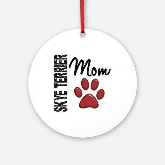 Skye Terrier Mom 2 Ornament (Round)