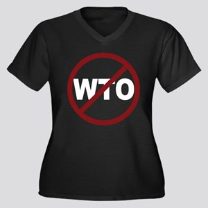 NO WTO Women's Plus Size V-Neck Dark T-Shirt