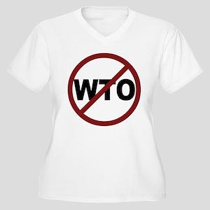 NO WTO Women's Plus Size V-Neck T-Shirt