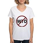 NO WTO Women's V-Neck T-Shirt