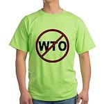 NO WTO Green T-Shirt