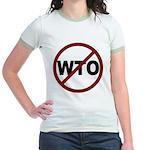 NO WTO Jr. Ringer T-Shirt