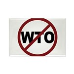 NO WTO Rectangle Magnet (10 pack)