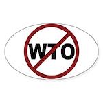 NO WTO Sticker (Oval 50 pk)