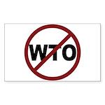 NO WTO Sticker (Rectangle 10 pk)