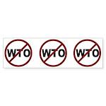 NO WTO Sticker (Bumper 10 pk)