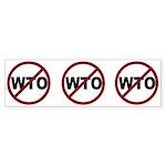 NO WTO Sticker (Bumper 50 pk)