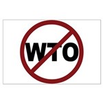 NO WTO Large Poster