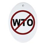 NO WTO Ornament (Oval)