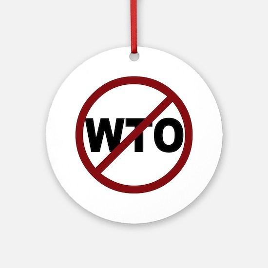 NO WTO Ornament (Round)