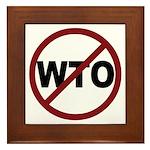 NO WTO Framed Tile
