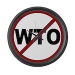 NO WTO Large Wall Clock