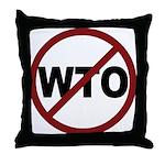 NO WTO Throw Pillow