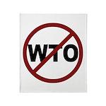 NO WTO Throw Blanket