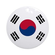 Flag of South Korea Ornament (Round)