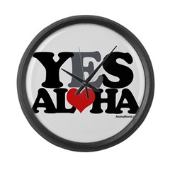 Yes Aloha Large Wall Clock