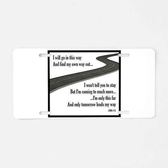 #41 Aluminum License Plate