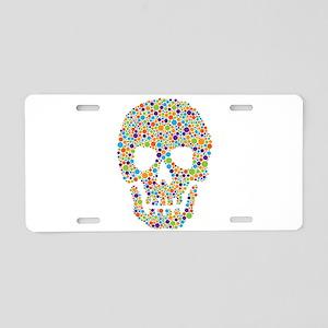 Skull of Dots Aluminum License Plate