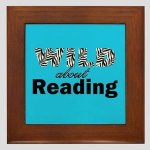 Wild About Reading Framed Tile