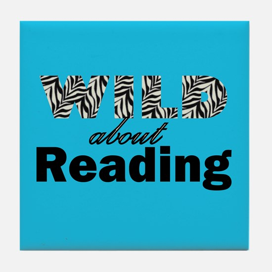 Wild About Reading Tile Coaster