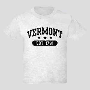 Vermont Est. 1791 Kids Light T-Shirt