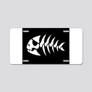 Pirate Fish Aluminum License Plate