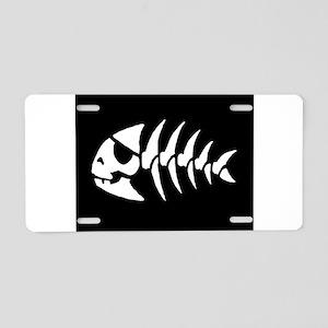 Pirate Fish Aluminum License Plate