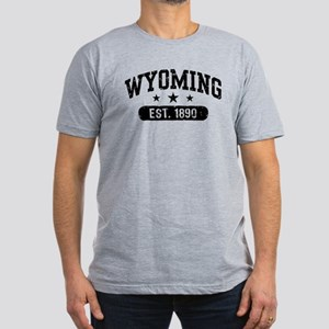 Wyoming Est. 1890 Men's Fitted T-Shirt (dark)