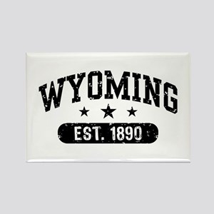 Wyoming Est. 1890 Rectangle Magnet