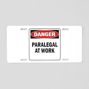 Paralegal Aluminum License Plate