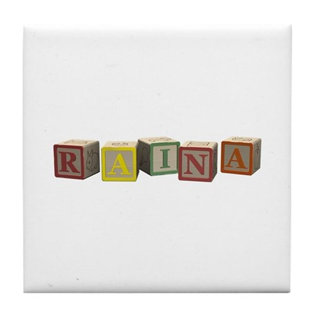 Raina Alphabet Blocks Tile Coaster