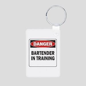 Bartender Aluminum Photo Keychain