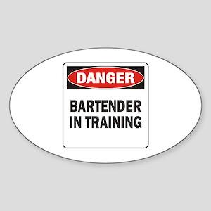 Bartender Sticker (Oval)