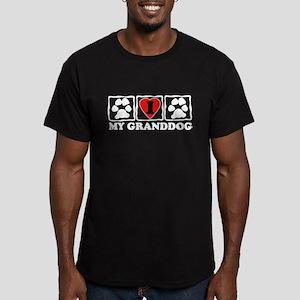 I Love My Granddog Men's Fitted T-Shirt (dark)