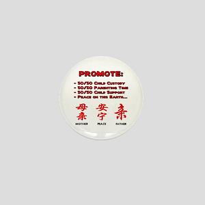 Promote 50/50 Oriental Red Mini Button