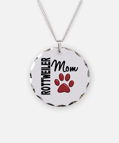 Rottweiler Mom 2 Necklace